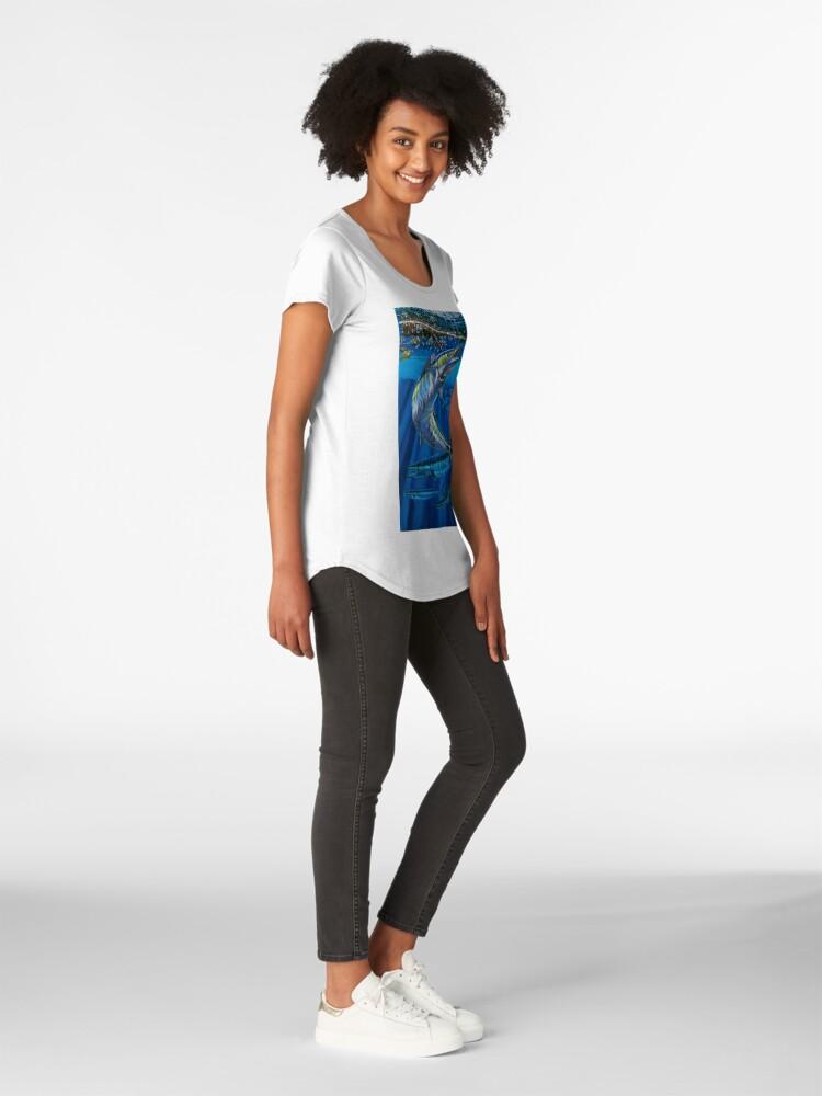 Alternative Ansicht von Wahoo Haven Premium Rundhals-Shirt