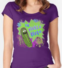 I'm Pickle Rick - Rick & Morty - Rick Sanchez - Season 3 - 80s Pop Art Splatter Neon Women's Fitted Scoop T-Shirt