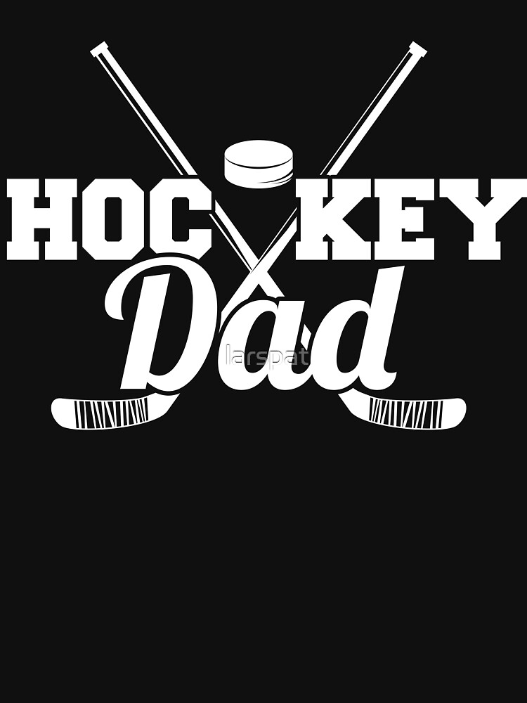 Hockey Dad Pucks and Sticks T-Shirt Funny Novelty Cool Tee by larspat