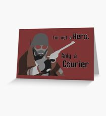 Not a Hero - Fallout New Vegas Greeting Card