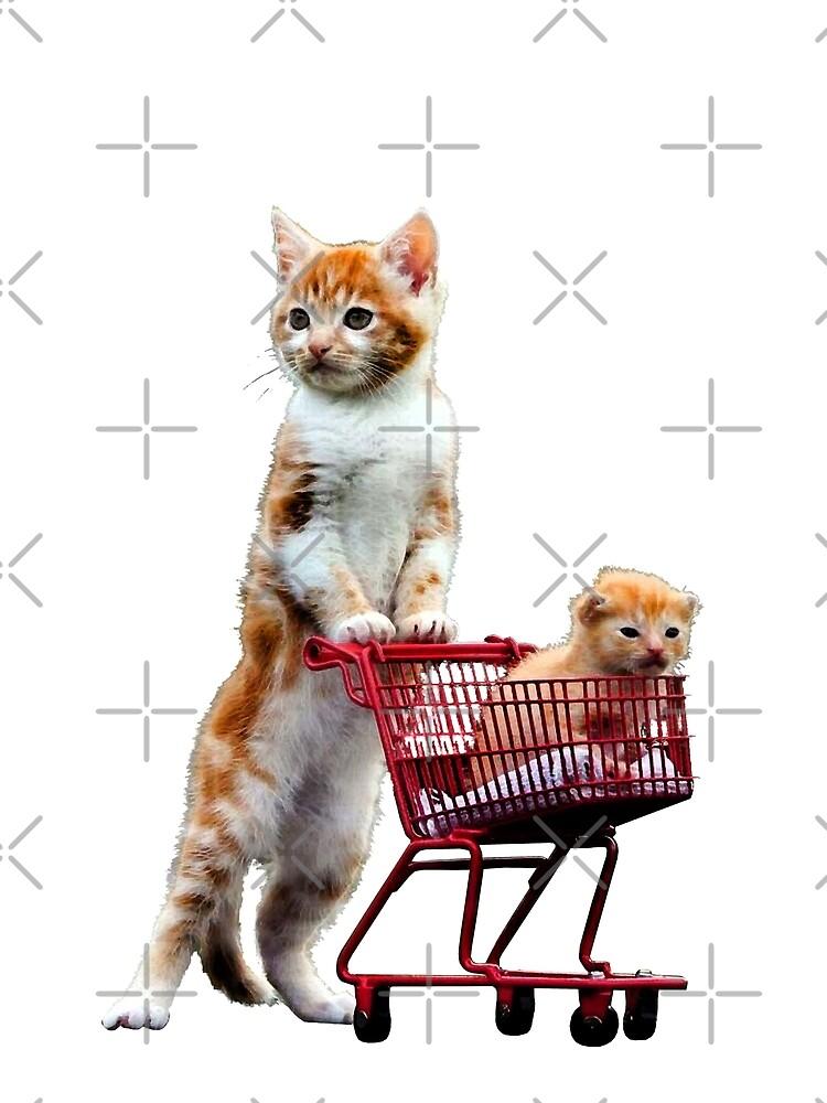 Shopping Cat - I love my Cats - Baby Cat by Delpieroo