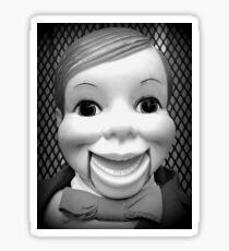 Willie Talk Vintage Ventriloquist Doll Sticker