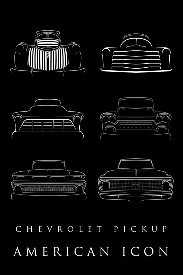 Evolution of the Chevy Pickup - American Icon by mal-photography