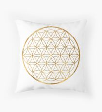 Flower of Life, sacred circle geometry Throw Pillow