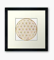Flower of Life, sacred circle geometry Framed Print