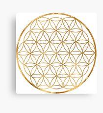 Flower of Life, sacred circle geometry Canvas Print