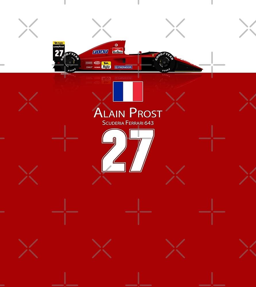 Alain Prost - Ferrari 643 by JageOwen