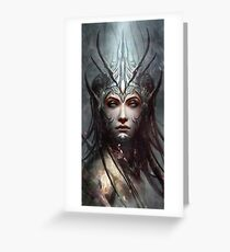 Woman Face Mystic Greeting Card
