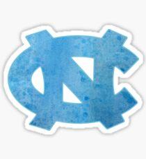 UNC Watercolor Sticker