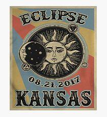 Vintage Solar Eclipse Kansas 2017 t-shirt Photographic Print