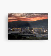 Belfast City Sunset Metal Print