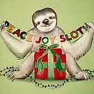 Christmas Sloth by Sarah  Mac Illustration