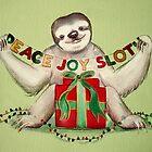 Christmas Sloth by Sarah  Mac