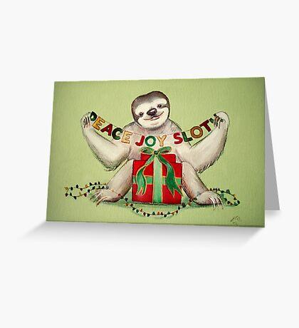 Christmas Sloth Greeting Card