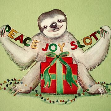 Christmas Sloth by Artsez