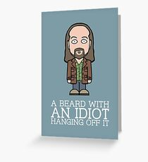 Black Books Manny Greeting Card