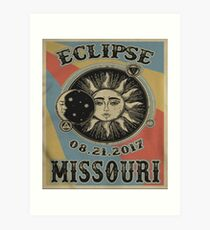 Vintage Solar Eclipse Missouri 2017 t-shirt Art Print
