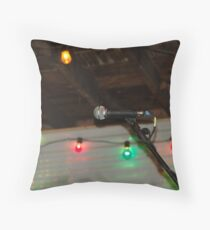 At The Mic Throw Pillow