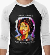 Auntie Maxine Waters Colorful Portrait - Reclaiming My Time Men's Baseball ¾ T-Shirt