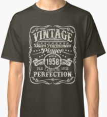 Gussow's Vintage Blues Harmonica Player Made in 1958 Classic T-Shirt