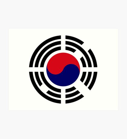 Korean Patriot Flag Series  Art Print