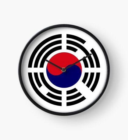 Korean Patriot Flag Series  Clock