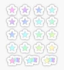 Pegatina Pastel Rainbow Shooting Stars Planner Set