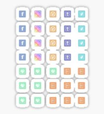 Social Media and Shop Icons Planner Set Sticker