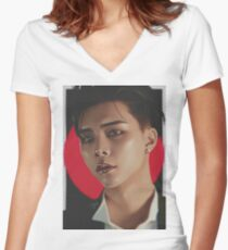 NCT127 JOHNNY Women's Fitted V-Neck T-Shirt