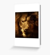 Red Lion Lannister House 3 Greeting Card