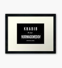 Khabib Nurmagomedov Framed Print
