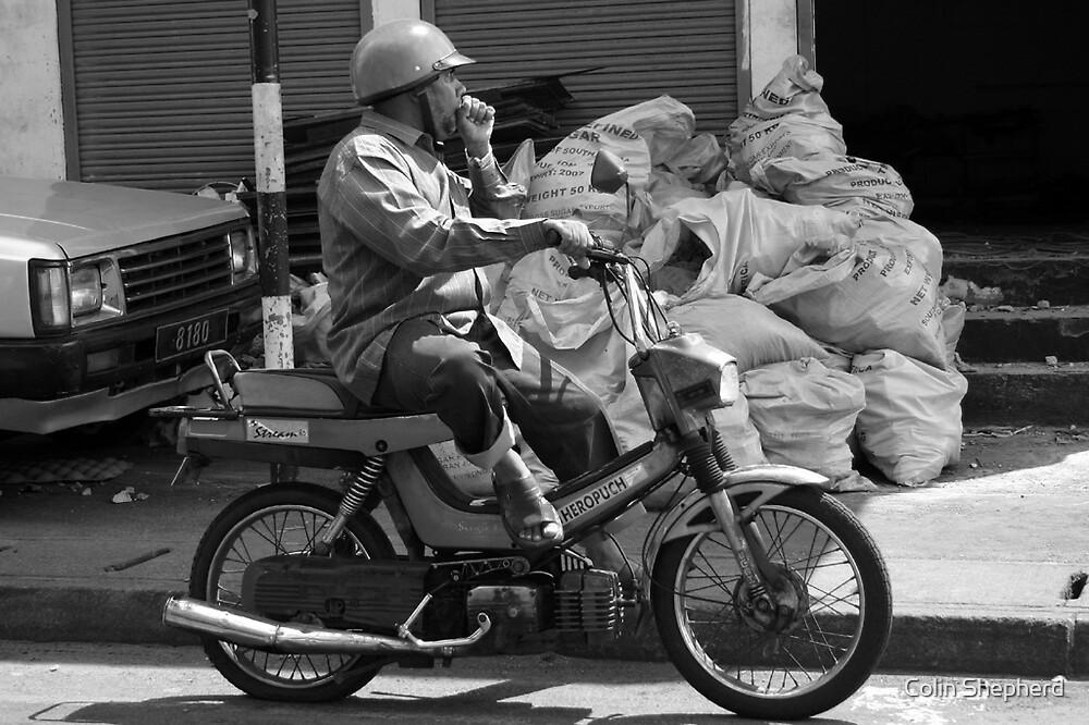 Moped Man by Colin Shepherd