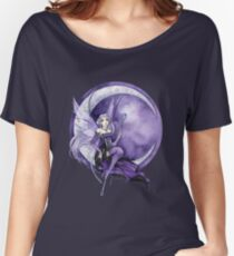 Purple Moon Gothic Anime Fairy Women's Relaxed Fit T-Shirt