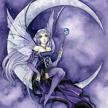 Purple Moon Gothic Anime Fairy by meredithdillman
