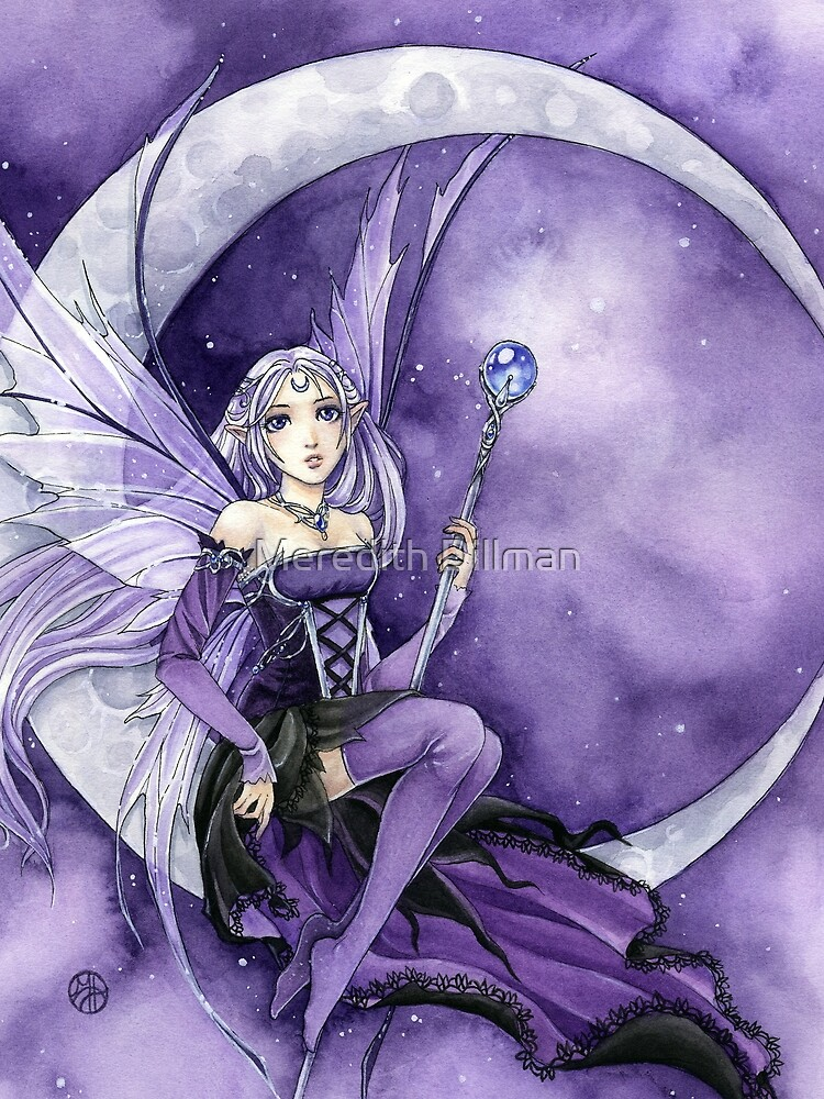 Purple Moon Gothic Anime Fairy by meredithdillman
