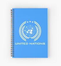 Die Expanse-UN-Flagge Spiralblock