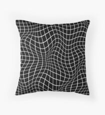 Wavy Grid Throw Pillow