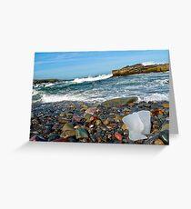 Glacial Breakwater Greeting Card