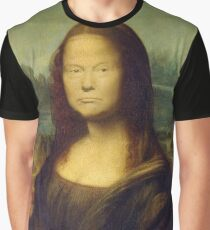 Trump Mona Lisa Graphic T-Shirt