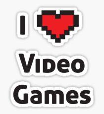 I pixel heart video games  Sticker