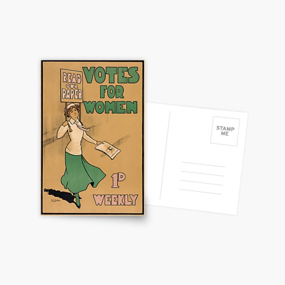 Stimmen für Frauen - Suffragetten Postkarte