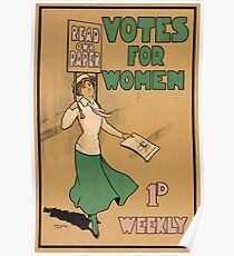 Votes for Women - Suffragettes Poster