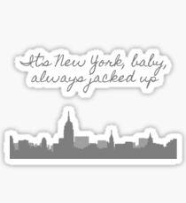new york baby harry styles Sticker