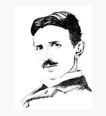 Nikola Tesla Drawing Photographic Print