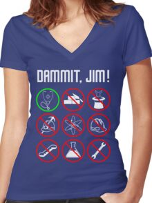 Star Trek: Just a Country Doctor Women's Fitted V-Neck T-Shirt
