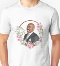 Steve Harvey - Blue Flower Frame Unisex T-Shirt