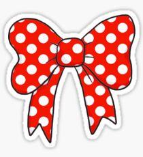 Polka Dot Bow Sticker