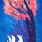 Fox and the Cherry Tree by michelledraws