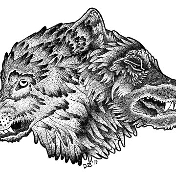 Two Wolves (Black) by danibeez