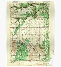 USGS Topo Map Washington State WA Medical Lake 242272 1943 62500 Poster